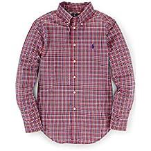 Ralph Lauren baby Boys' Blake Plaid Cotton Shirt