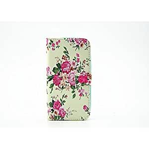 Zaki-Elegant Blooms Pattern PU Leather Full Body Case with Stand for Samsung S3 I9300