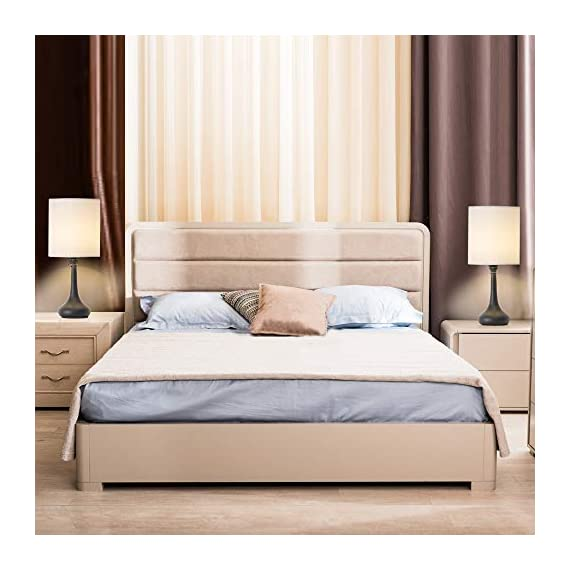 Table Lamps Set of 2 Bedside Lamps Modern Desk Nightstand Lamps Pair with Black Metal Base and White Fabric Shade for Bedroom Office Living Room - 🐱🚀【Unique Modern Design】The modern table lamp pair are constructed of high-quality metal body and white fabric shade that looks very stylish and beautiful, metal lamps holder is very smooth and good sense of touch, and have a convenient on and off switch on power cord, white lampshades can also provide bright ligh, you will love it. 🌍【ideal Lamps Size and Beautiful】Small table lamps set of 2 dimension - 16.2 x 7.1 x 4.3 inches, decorate your room on the table or bedside, Turn on the awesome table lamps to make your room bright and full of warm light, make your room unique and style. So the romantic table lamp can also be given as a gift to your friends, family or yourself. 🔔【Easy to Use & Essambly】The cord, socket and plug of nightstand table lamp are UL listed. This dorm lamp is nationally recognized for its standard of safety. An on-off button switch on the power cord, easy to use and safe (No touch switch), you don't need to worry about security issues in during use. - lamps, bedroom-decor, bedroom - 41WiajNzn1L. SS570  -
