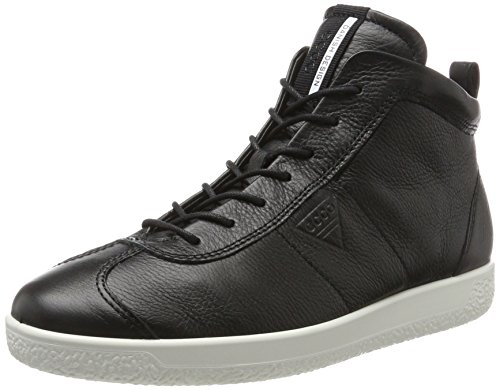 1 ECCO Soft Alto Black Sneaker Men's Collo a Uomo Nero q5RZ5fO