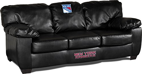 Imperial Officially Licensed NHL Furniture: Classic Leather Sofa/Couch, New York Rangers