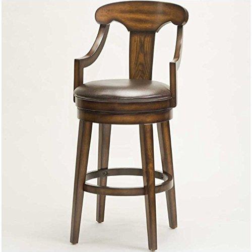 Hillsdale Furniture Upton 45.5-Inch Swivel Bar Stool, Rustic Oak ()