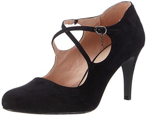 Belmondo Pumps-Damen, Zapatos de Tacón para Mujer Negro (Nero)
