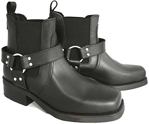 Style Bottes Pour En Cuir Laiton Motard Réf Cheville Homme Noir 66 Cowboy Terminator 6xpI1wqx