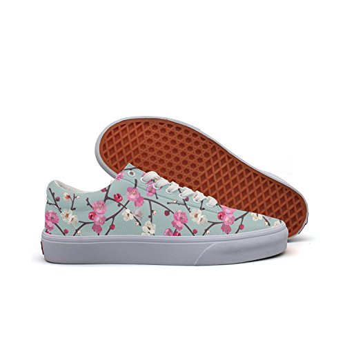 (SERXO Cherry Blossom Branches Skateboard Running Shoes Women Coach Sneakers)