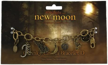 *NEW* Twilight New Moon Jewellery Jelly Bangle With Charms Wolf Heart
