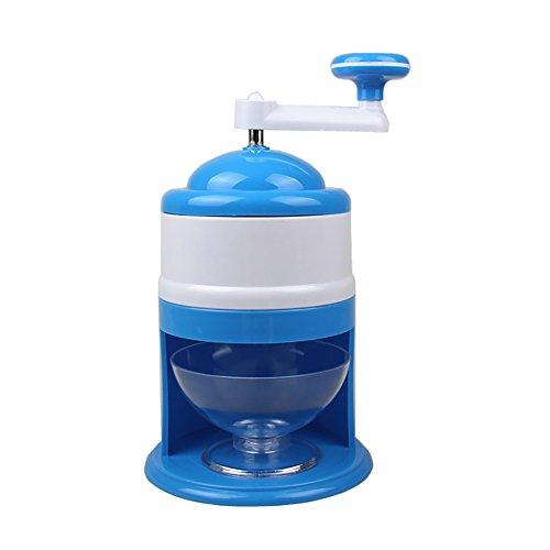 (SparkLia Portable Hand Crank Manual Ice Crusher Shaver Shredding Snow Cone Maker Machine Kitchen Appliance)
