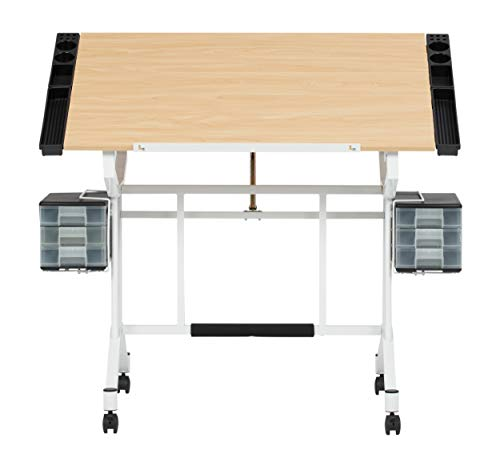 Studio Designs Pro Craft Station in White with Maple 13245 ()