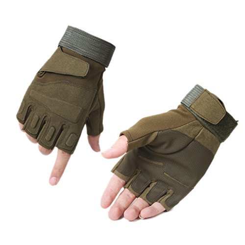 Wear-resistant Tactical Gloves, WITERY Ventilate Half Finger Hard Knuckle Motorcycle Military Tactical Combat Training Army Shooting Outdoor Gloves