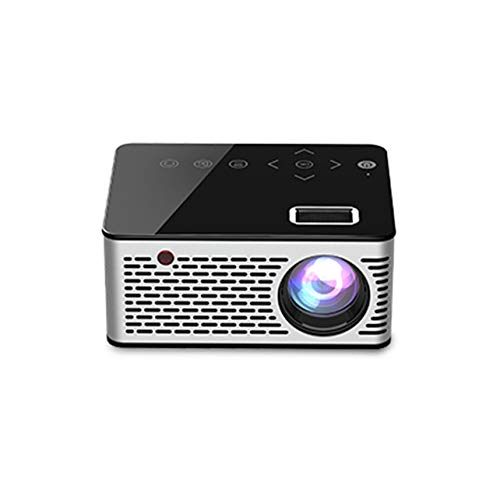 Dalkeyie ❣Mini Micro LED Cinema Portable Video HD USB HDMI Projector for Home Theater Short Focus Design T200 Transmission Screen❣
