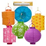 "Battery-operated Paper Garden Lanterns, 8"" (Assorted Designs) - 1 piece"