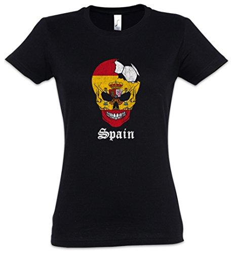 T Spain – Skull Tamaños Mujer Xs 2xl Girlie Backwoods Urban shirt I Women Football 8fw8Bq6