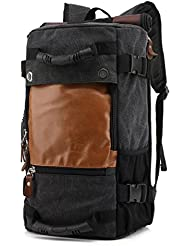 Anyhow Canvas Casual Backpack Hiking Backpack Vintage Rucksack Daypack Sports Bag for Men Travel Climbing Camping...