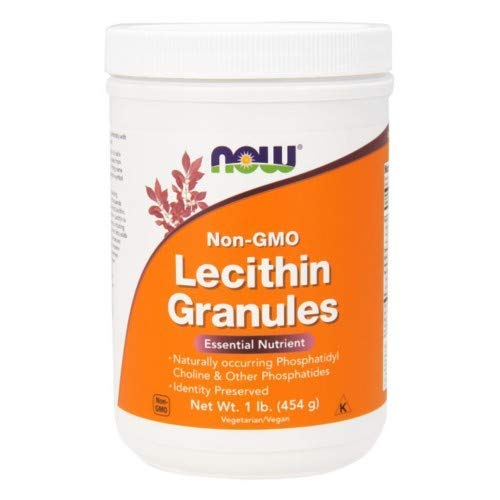 Lecithin, GRANULES NON-GMO, 1 Lb Cannister by Now Foods (Pack of 6)