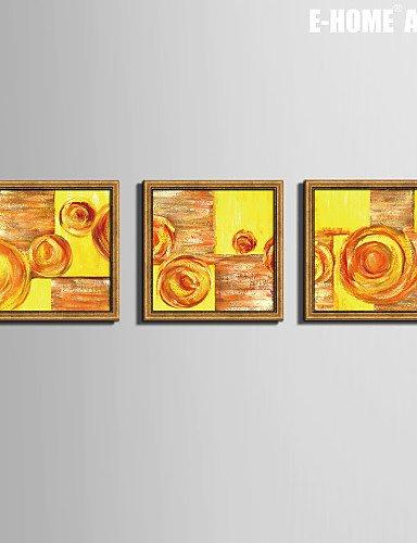 QFL e-HOME lienzo?, Diseño abstracto impresión de lienzo enmarcado ...