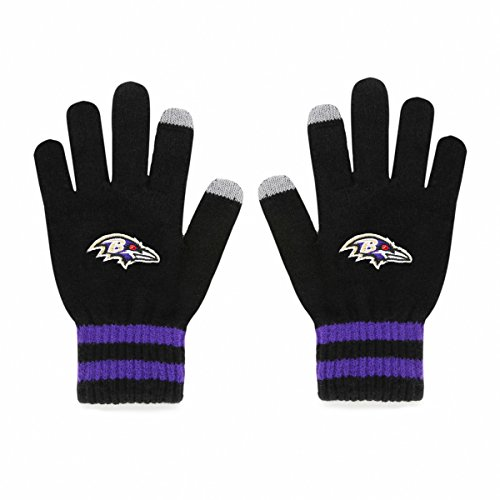 Baltimore Ravens Gloves - NFL Baltimore Ravens Men's Sportsman Touch OTS Glove, Black, Men's