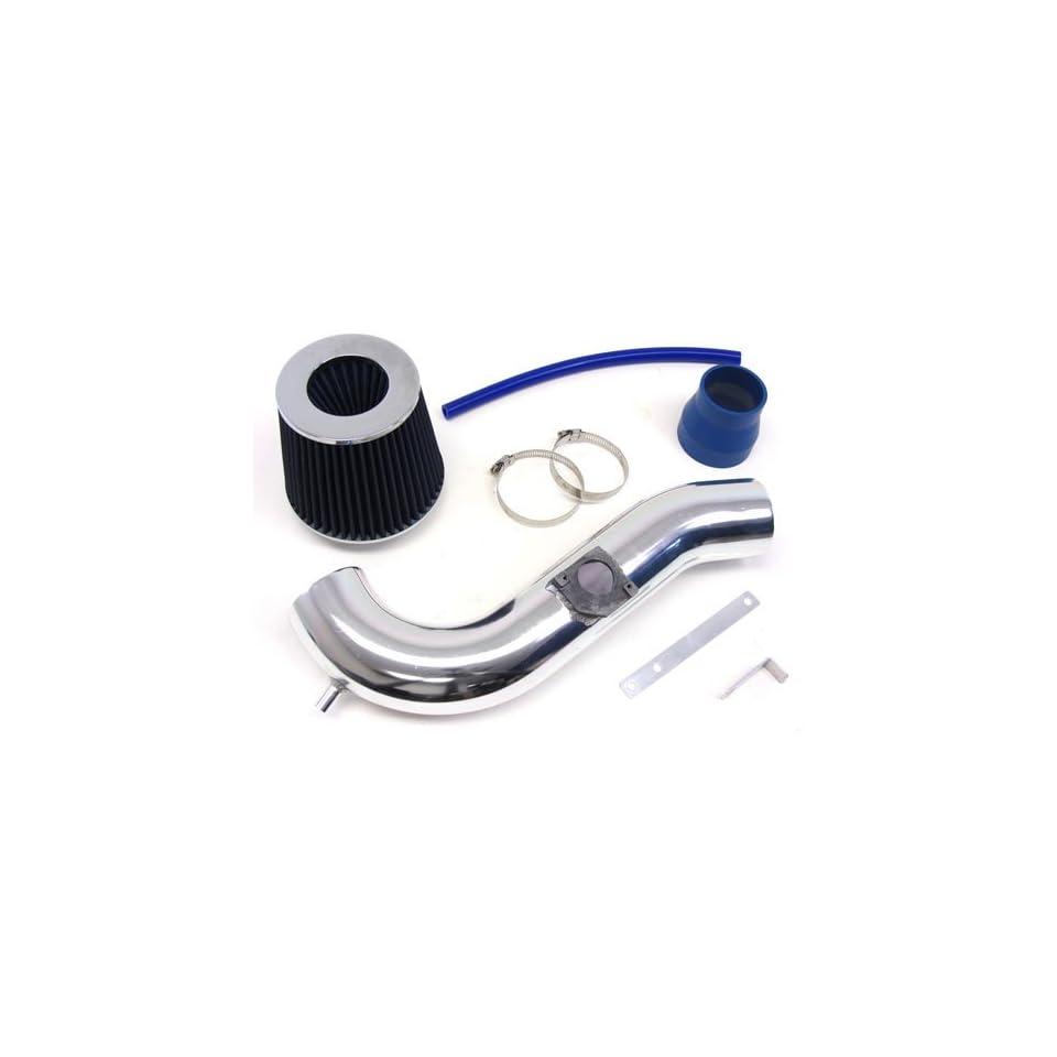 00 04 01 02 Lexus IS300 Short Ram Air Intake Kit Polish Pipe + Blue Filter