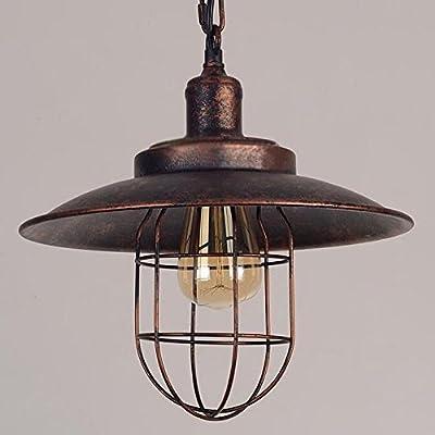 Kiven Iron Mini Pendant Light Vintage Style Iron Cage Pendant Light Retro Cage Pendant Lamp Rustic Hanging Lighting