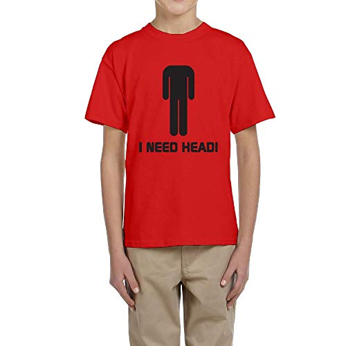 LingBer Youth Need Head Graphic Humor Kids Girls Boys T-Shirt