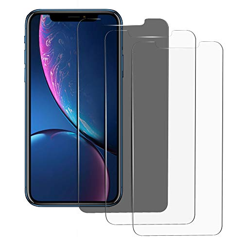 iPhone XR Screen Protector Compatible, 6.1 inch, 1 HD Privacy and 2 Clear