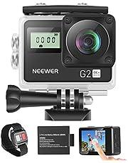 Neewer G2 4K WiFi Sport Actie Camera met Touch Screen Ultra HD Waterdichte DV Camcorder 12MP 4 K/30FPS EIS 170 Graden Groothoek WiFi Sport Cam met Afstands/Batterij en Montage Accessoires Kit