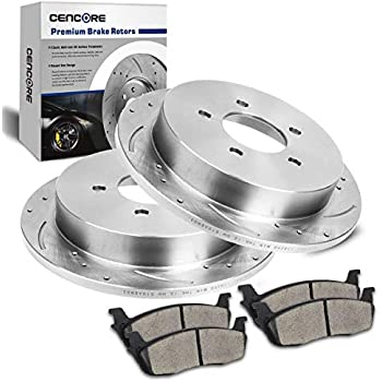 2015 For Chrysler Town /& Country Drilled Slotted Front Rotors and Pads 330mm