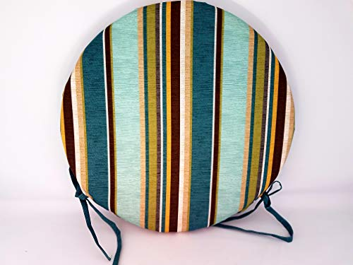 (WRS Alfresco Tyndale Stripe Breeze Indoor/Outdoor Bistro Chair Cushion 15