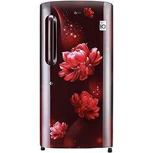 LG 215 L 4 Star Inverter Direct-Cool Single Door Refrigerator (GL-B221ASCY, Scarlet Charm, Moist 'N' Fresh)
