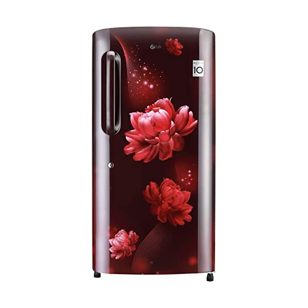 LG 215 L 4 Star Inverter Direct-Cool Single Door Refrigerator (GL-B221ASCY, Scarlet Charm, Moist 'N' Fresh) 2021 August Direct-cool refrigerator: Economical and Cooling without fluctuation Capacity 215 liters: Suitable for families with 2 to 3 members and bachelors Energy rating 4 Star: High energy efficiency