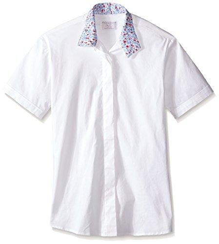 (Devon-Aire Women's Nouvelle Stretch Short Sleeve Shirt, 38, White)