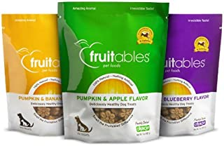 product image for Fruitables Pumpkin Dog Treats, Variety Pack of 3