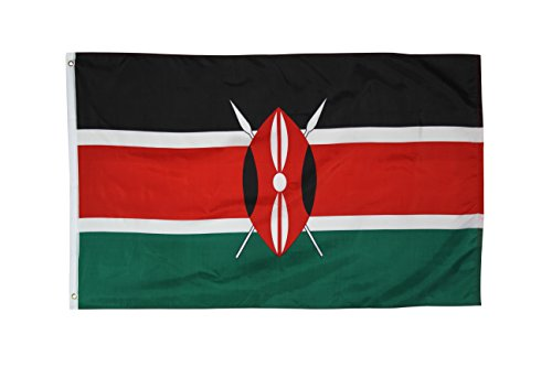 Quality Standard Flags Kenya Polyester Flag, 3 by 5'