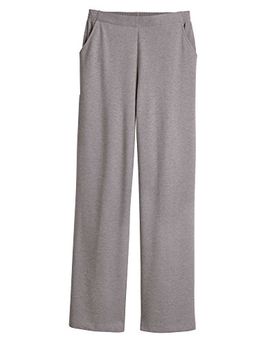 - UltraSofts Flat Front Pants, Heather Gray, Medium