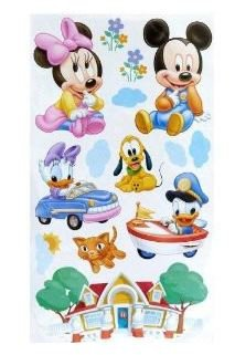 Mickey Mouse Minnie Mouse Friends Baby Dekor Furs Kinderzimmer