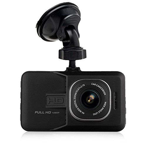 "[1080P Full-HD 170°Wide Angle] Maxesla Dashboard Camera Vehicle Video Recorder 3.0"" LCD Screen Car Dash Cam Motion Detection G-Sensor Loop Recording Parking Monitor Car Security DVR with Quick Charge"
