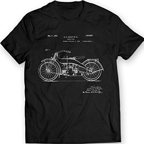 Maglietta Brevetto Harley Nero Davidson Motocicletta wgYvRzxRq