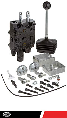 (Prince LVT1GB5AB7 Loader Valve, Monoblock, Cast Iron, 2 Spool, 4 Ways, 4 Positions, Single Acting Cylinder Spool, Spring Center with Float Detent, Joystick Handle, 3000 psi, 10 gpm, In/Out: #8 SAE, Work #6 SAE)
