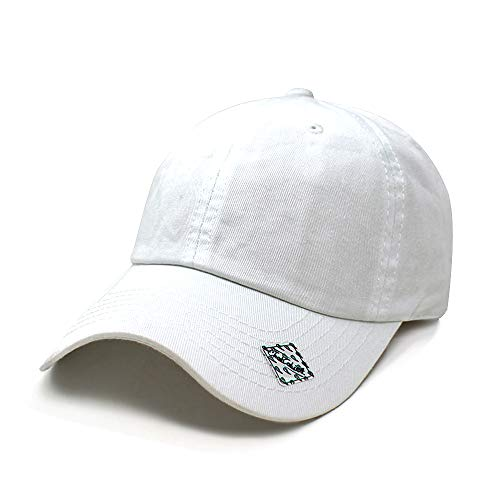 (ChoKoLids Cotton Dad Hat Adjustable Blank Cap Low Profile Unstructured Polo Style (White))