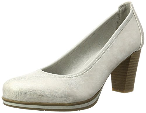 Jana 22408, Zapatos de Tacón para Mujer Plateado (Silver Pat Str 914)