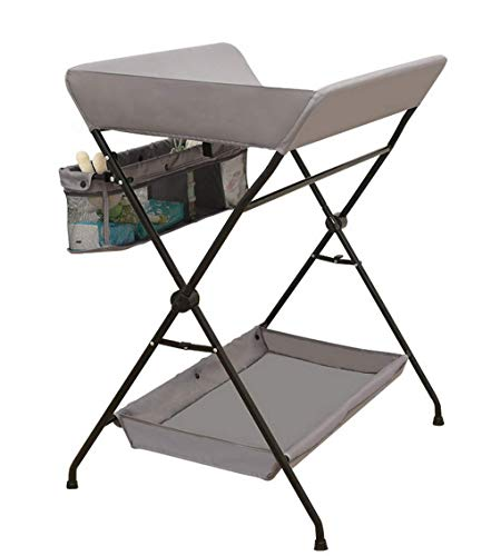 ANYANG DEXIN Baby Shower and Changing Table Foldable, Rack, Drying Rack, Bottom Rack Design Massage Treatment Finishing Storage Baby Care Table Newborn Care Table Color Optional ()