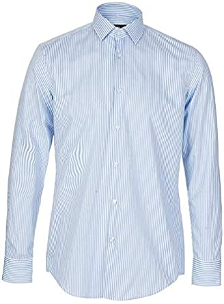 BOSS Hugo Camisa Regular Fit algodón Mod. C-Enzo RIGA CELESTE ...