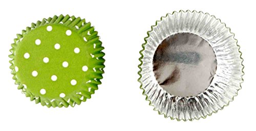 Crave Foil Baking 36 Cups with Decorative Patterns, Green, 1-pack