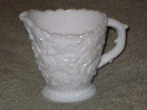 Vintage Westmoreland Milk Glass IVY Pattern 3 1/2 x 3 1/2 Inch Creamer (Glass Pattern Creamer)