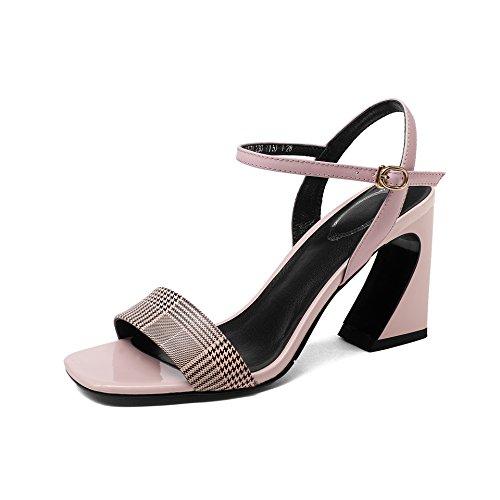 Pink amp;S Toe Sandalias Bloque Tacones de Mujer MEI Peep q87dSq