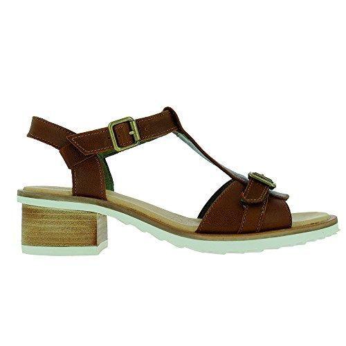 In N5011 Legno Fibbia Pelle Sabal Sandalo Di Donna ZqTOt