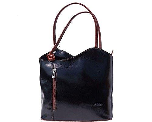 Florence Leather  207, Sac à main porté au dos pour femme noir noir