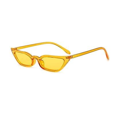 Amazon.com: junjunli Sunglasses Narrow cat Eye Sunglasses ...