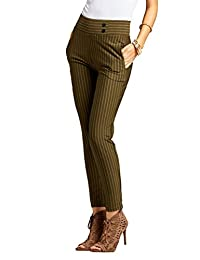 Conceited Premium Women's Dress Pants - Slim or Bootcut - All Day Comfort in Solids and Pinstripes