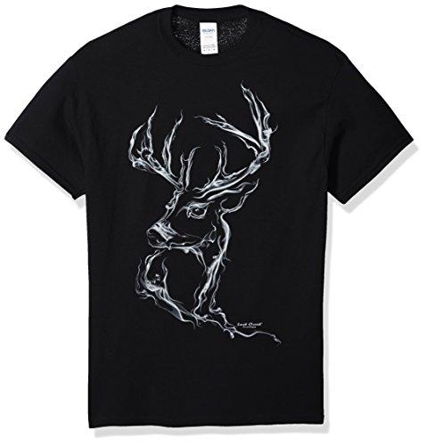 Series Deer - Lost Creek Men's Deer Series Short Sleeve T-Shirt, Black, X-Large