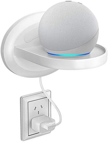 MATONE Estante de pared pequeño, estantes de montaje en pared para Google WiFi, altavoces inteligentes y teléfonos móviles, estante de carga inteligente con arreglo de cables, soluciones de espacio pequeño para cualquier cosa de hasta 15 libras 3